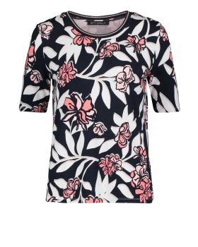 BETTY BARCLAY BLUSE  MARINE/ROSA