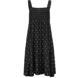 Opal sort kjole m. prikker