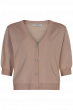 IN FRONT CARDIGAN SOFT ROSE