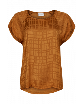 IN FRONT BLUSE   BURNT SIENNA