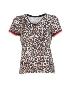 IN FRONT BLUSE   BRUN
