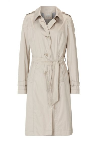 BETTY BARCLAY TRENCHCOAT   SAND